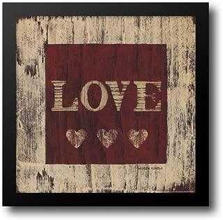 Love 14x14 Framed Art Print by Kimble, Warren