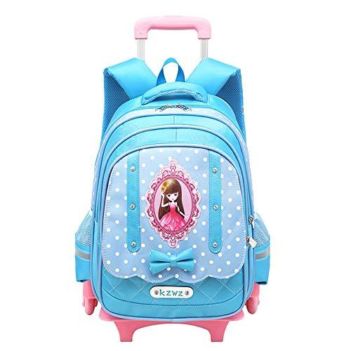 Mochilas para niñas, maletas con ruedas para niñas, mochilas escolares para niñas, mochilas para niños con ruedas-skyblue