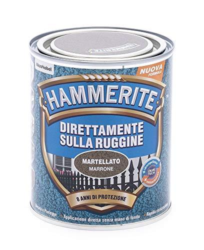 Hammerite Direttamente Sulla Ruggine Martellato Marrone 0.75 L