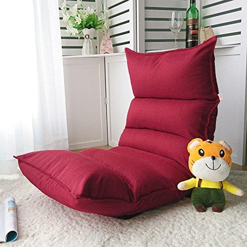 Lazy Sofa Stuhl Verstellbare Falten Waschbar Faul Sofa Bodenliege Bay Fenster Kissen Sofakissen,Red