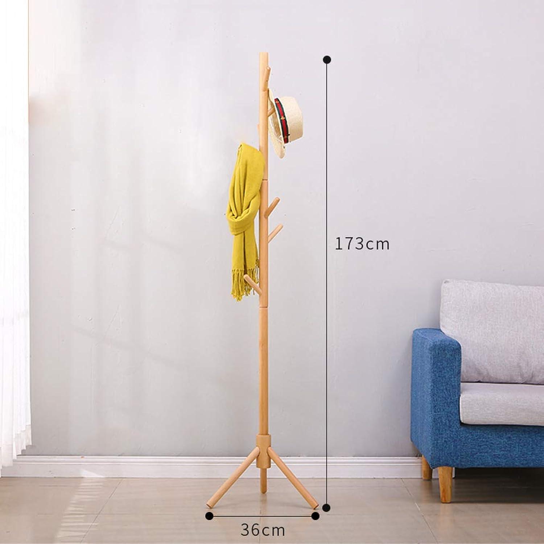 Natural Wood Coat Rack, Free Standing Tree-Shaped Has Jacket Coat Rack Hanger Simple Clothes Hook Creative Storage Hanging Rack-A