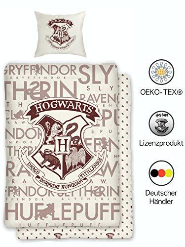 Harry Potter Juego de ropa de cama reversible Hogwarts de