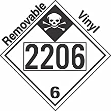 GC Labels-P335c2206, Inhalation Hazard Class 6.1 UN2206 Removable Vinyl DOT Placard, Package of 50 Placards