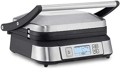 "Cuisinart GR-6S Contact Smoke-Less Mode Griddler, 11.5""(L) x 10.5""(W) x 7.0""(H), Silver"