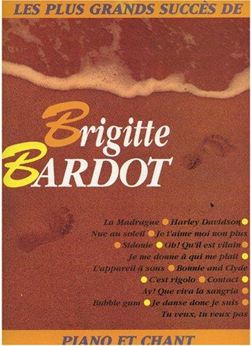 Bardot Brigitte Les Plus Grands Succes De Voice & Piano Book