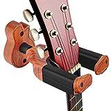 TTCR-II Soporte Guitarra Pared Suelo,Colgador Guitarra pared Accesorios Guitarra Pie Guitarra Soporte Madera Estante de Pared para Ukelele Guitarra Acústica Electrica Clásicas Violin Electrico Banjo