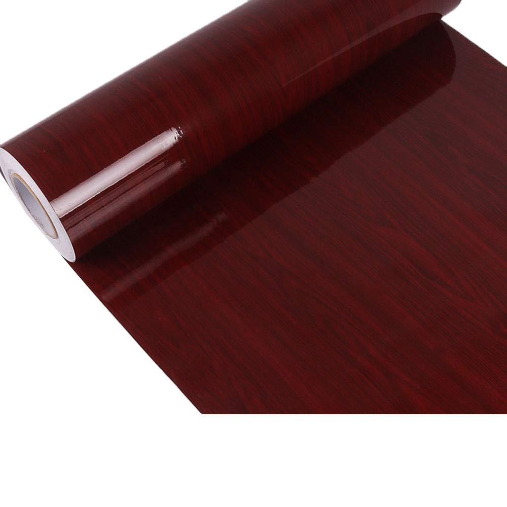 hoho alto brillo grano de madera hoja de Vinilo Adhesivo decorativo de vinilo papel pintado película para coche muebles, pvc, dark, 24