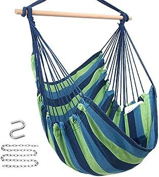 Y-STOP Hanging Rope Swing Hammock Chair, Max 330 Lbs (various)