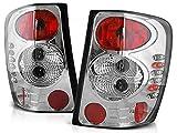 Luces traseras compatibles con Chrysler Jeep Grand Cherokee Wj 1999 2000 2001 2002 2003 2004 2005 GV-1804 Conjunto de luces traseras para montaje de cromado