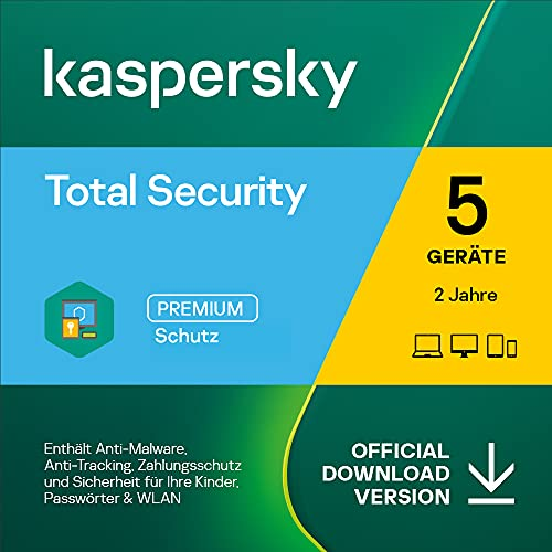Kaspersky Total Security 2021 | 5 Gerät | 2 Jahre | PC/Mac/Mobile | Aktivierungscode per Email
