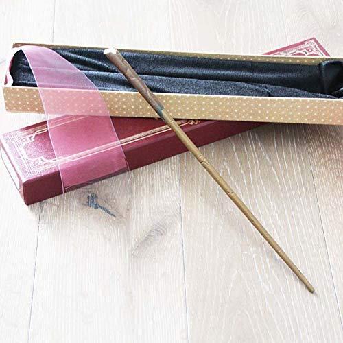 XGXQBS Serie de Harry núcleo metálico Varita mágica, la Varita de Cosplay Atrezzo Scamander Asistente Newt Bastón Asistente de autoaprendizaje Wand,Red Box,36cm