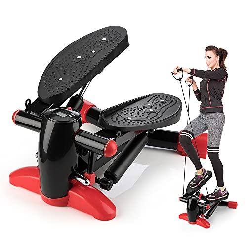 2 in 1 Up-Down-Stepper für zuhause,Fitness Stepper mit Multifunktions LCD Display Hometrainer Fitnesstraining Stepper für Bein- und Po-Training Swingstepper für Anfänger & Fortgeschrittene