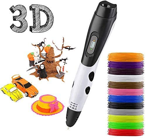 3D Pen, 3D Printing Pen with 12 Colors PLA Filament, 3D Drawing Pen with...