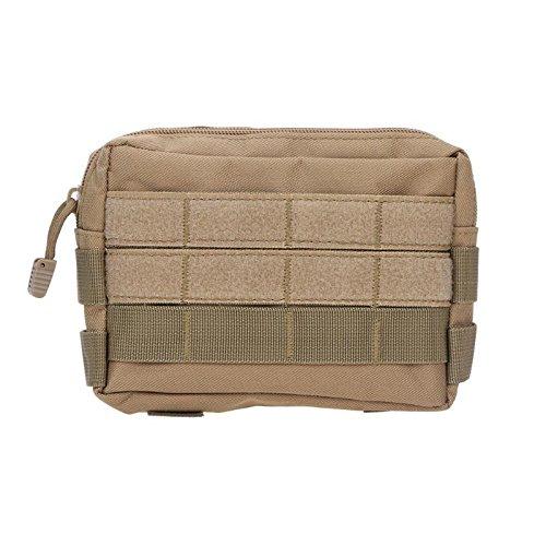 OneMoreT Tactical Bag Militär-Tasche, Unisex, Handtasche, Camping, Wandern, Handyschlüssel, Outdoor, Sport, Taillentaschen, 18 x 13 x 3 cm khaki