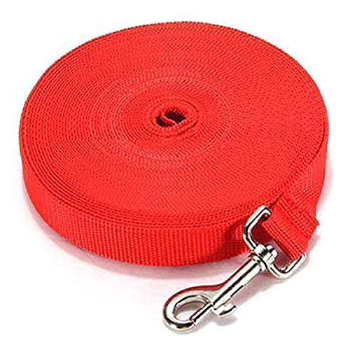 Pet elastisches Seil reflektierende Haustier Hund Zugseil Ausbildung elastische Hundehalsband Gürtel Leine (Color : Red, Size : 5m*2cm)