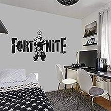ملصق فورتيس نايت فورت نايت جداري قابل للازالة بتاثير لامع للديكور المنزلي لغرف المعيشة وغرفة النوم وخلفية التلفزيون - اسود