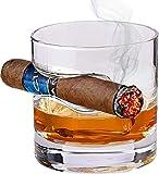 Bezrat - Bicchiere da whisky con poggiasigari integrato