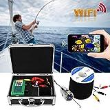 【𝐇𝐚𝐩𝐩𝒚 𝐍𝐞𝒘 𝐘𝐞𝐚𝐫 𝐆𝐢𝐟𝐭】 Cámara de Pesca submarina, 720P WiFi 6LED IP68 Cámara submarina 65.6ft Cable Video Fish Finder 100-240V(UE, 110V-240V)