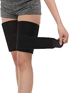 Luwint Thigh Brace Support, Adjustable Sciatic Nerve Leg Wrap Sleeves for Running Volleyball Muscle Sprains, 1 Pair