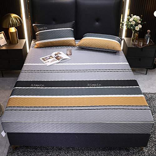 FJMLAY Sábanas ajustablesperfecto para el colchón,Sábana Bajera de látex de Seda de Hielo, Dormitorio, apartamento, Alfombrilla Antideslizante, protección Pad-U_150cmx200cm
