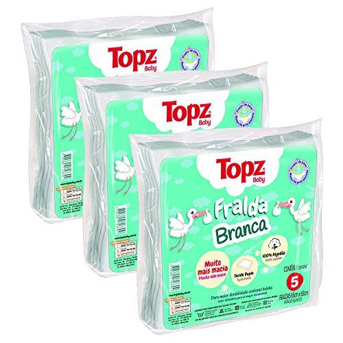Cremer Topz Baby Fralda De Pano Branca C/5