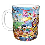All Things Disney Lesson Plans - Tazza da caffè in ceramica, grande, per ufficio e casa, 330 ml, lavabile in lavastoviglie e forno a microonde, 1 pezzo