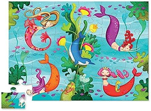 Floor Puzzle - 36 Large Piece Kid's Puzzle (20 x 27) - Mermaid by Crocodile Creek