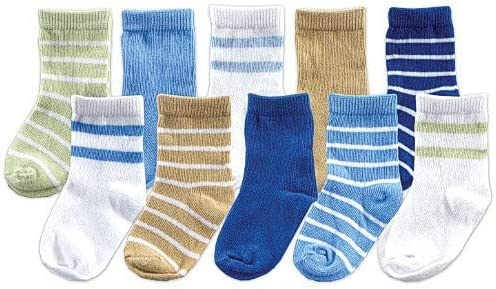 trend rank Luvable Friends Unisex Baby Socks Boy Months 0-9 Blue Max 88% OFF Giftset