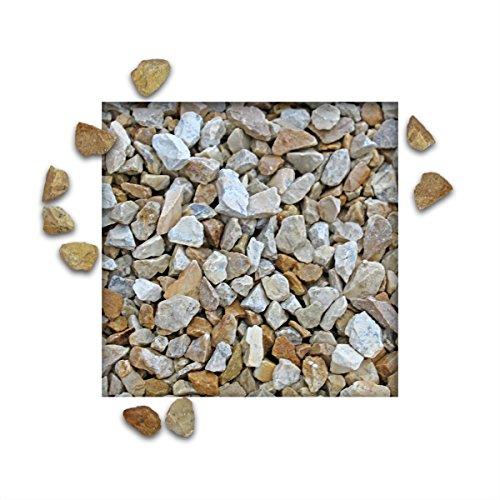 25 kg Kalksteinsplitt Jura Hellbeige Gartensplitt Ziersplitt Deko Kalkstein Dekoration Splitt Körnung 8/16 mm