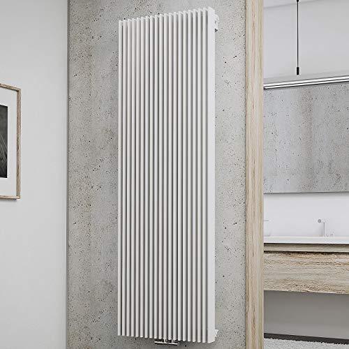 Schulte Wohnraum-Heizkörper London, 180x60 cm, 2223 Watt, Mittenanschluss oder Anschluss seitlich, alpin-weiß