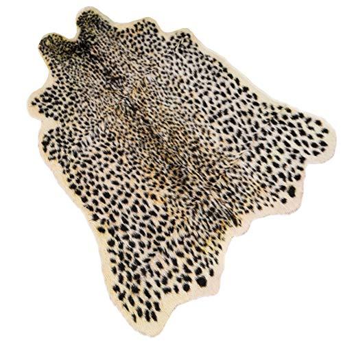 "Leopard Print Rug 3.3"" Wx3.1 L Feet Faux Cowhide Skin Rug Animal Printed Area Rug Carpet for Home Office, Livingroom, Bedroom"