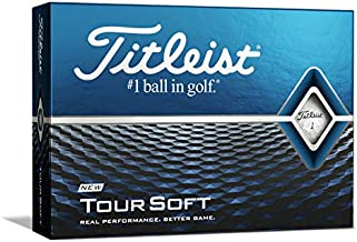 Titleist Tour Soft Golf Balls, White, (One Dozen)