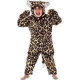 Charlie Crow Pelz Leopard Kostüm für Kinder 5-7 Jahre.