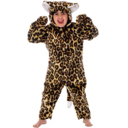 Charlie Crow Disfraz de leopardo de piel para niños de 9 a 11 años
