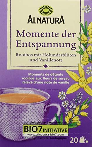 Alnatura Bio Momente-der-Entspannung-Tee, 20 Beutel, 6er Pack (6 x 40 g)