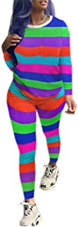 2 Piece Outfits for Women Tie Dye Clubwear Sweatsuits Shirts Bodycon Pants Sets Tracksuit Jumpsuits Joggers