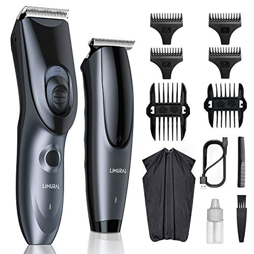 Limural Hair Clippers Kit Cordless Haircutting & Trimming Set, Professional Hair Cutting Kit Hair Trimmer Kit for Men Women Kids Clippers Set & Beard Trimmer Set Rechargeable Grooming Kit