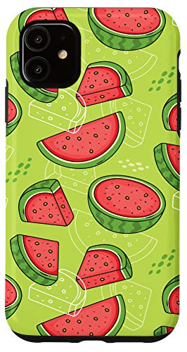 iPhone 11 Tropical Fruits Watermelons Pattern Case Hawaii Case