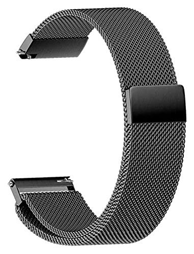 Cinturino Per Orologio 18Mm 20Mm 22Mm Cinturini Universali Smart Watch Cinturino In Metallo Cinturino In Acciaio Inossidabile Cinturino Per Orologi Da Uomo Da Donna (Colore : Nero, Dimensioni : 18Mm)