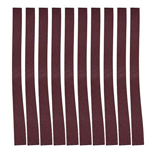 10 Uds 760x25mm cinturón de lijado 30x1 pulgadas lijadora de cinta de banda abrasiva 60-180 bandas de lijado de óxido de aluminio de grano para lijadora de banda(100#)