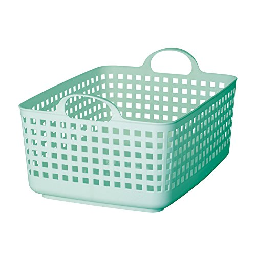 Like-It SCB-7 Scandinavia Style Basket, 13.89' x 20.08' x 9.45'h, Mint Blue