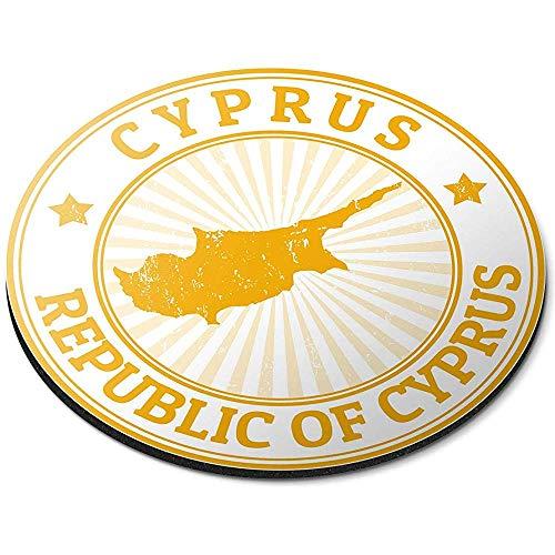 Ronde muismat - Republiek Cyprus Reizen Toeristische Kaart Kantoor Gift