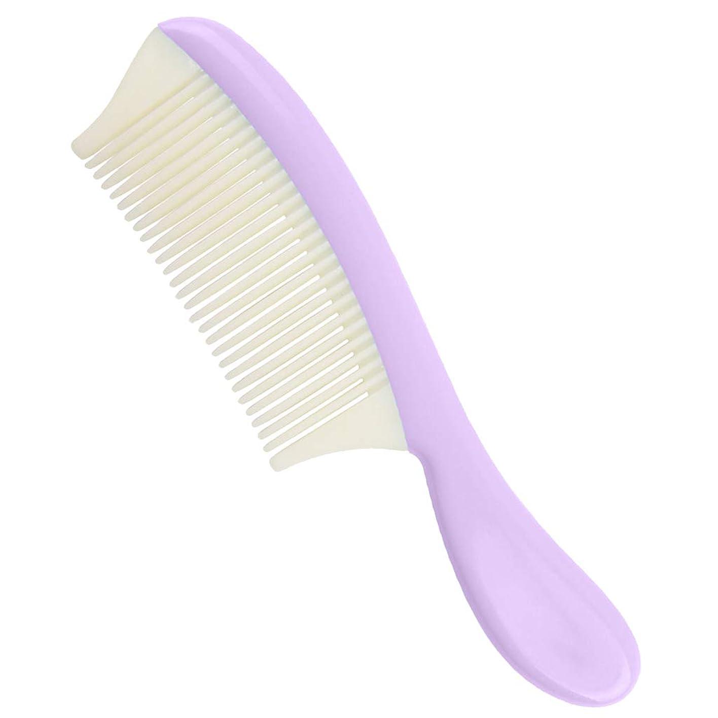 レーダーヒステリック尊厳P Prettyia プラスチック ヘアコーム 取り外し可能 細かい歯 髪の櫛 全4色 - 紫