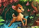 ZHEMO-Children's Puzzle 1000 Piezas Juego De Rompecabezas Entretenimiento Familiarpóster De Anime Bambi-Los Juguetes De Madera Son Un Desafío De 75 * 70 Cm