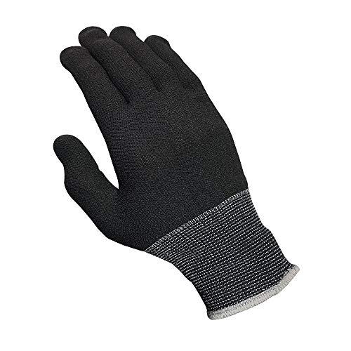 下履き インナー手袋 黒色 10双入 Lサイズ (20枚入り・両面使用可能) 作業用 MD-961