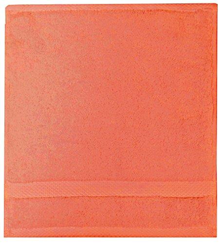 Garnier Thiebaut Carré de Toilette, Coton, Corail, 30x30 cm
