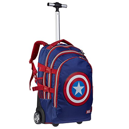 Capitan America - Zaino Trolley Scuola e Viaggio - 30x48x18 cm