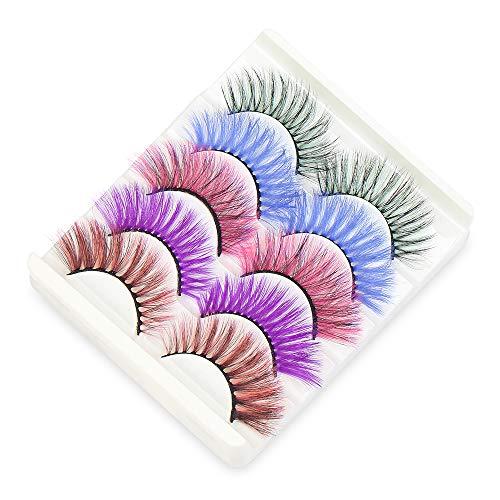 Colorful Eyelashes, (Colorful-5 Pairs)