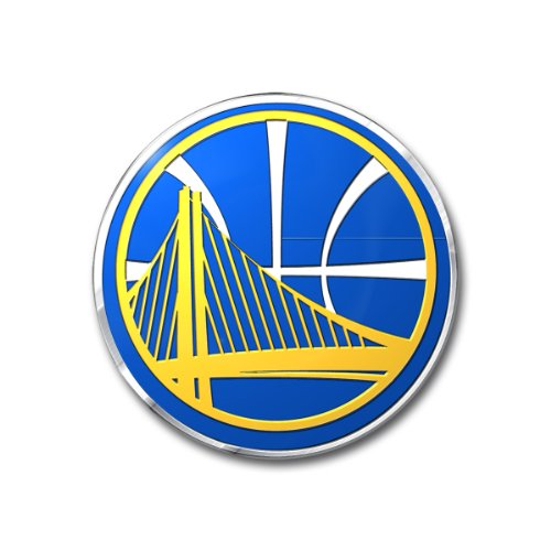 NBA Golden State Warriors Color Auto Emblem, One Size, One Color