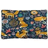 Alfombra de cama para mascotas de otoño con diseño de mandala, diseño de flores, perro, gato, cama de 18 x 24 cm, cojín de cojín para cachorros pequeños y medianos
